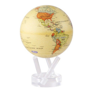 Antique map Mova globe