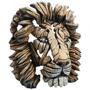 Lion bust - Edge sculpture
