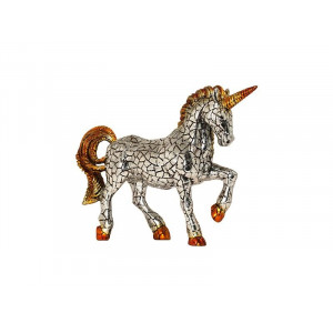 Mosaic unicorn figurine -...