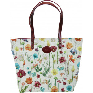 Wild flowers large city bag...