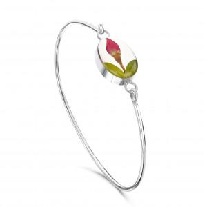 Rigid silver bracelet -...