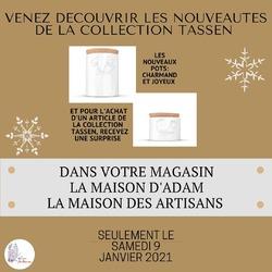 👀👉 Ce samedi 9 janvier, Anaïs sera à votre disposition en boutique pour vous présenter la collection de nos ptites bouilles préférées 😍 déclinées en bols, mugs, tasses, coquetiers, vases... ainsi que les nouveaux pots! 🌟 Une surprise vous attendra pour l'achat d'un article! ☺️🤫 À demain! #tassen #tassenworldwide #bolmignon #bolhumeur #bolvisage #bolrigolo #mugmignon #mughumeur #surprise #idéescadeaux #cadeau #maisondadam #maisondesartisans #angers #anjou